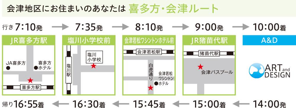 喜多方・会津ルート